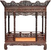 Chinese antique bed Royalty Free Stock Photos