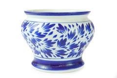 Chinese antique blue vase Royalty Free Stock Image