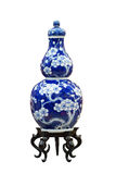 Chinese antique blue and white vase Royalty Free Stock Images
