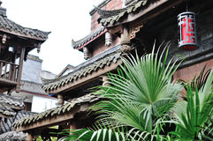 Chinese antique building. Chinese Characteristics antique building, brick roof structure, brackets structure Royalty Free Stock Photography