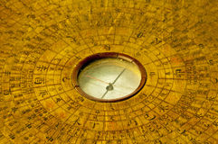 Chinese antique compass. For fengshui royalty free stock images