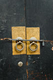 Chinese antique door-handles. Royalty Free Stock Photography