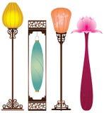 Chinese Antique Floor Lamp stock illustration