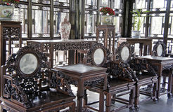 Chinese antique furniture stock photo