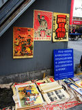 Chinese antique market. Pictures selling in the chinese antique market Royalty Free Stock Photography