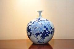Chinese antique vase. On table's Chinese China antique vase Stock Photo