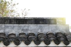 Chinese antiques roof dirty and old design Asia architecture uni Royalty Free Stock Photo