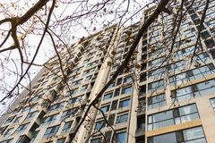 Chinese Apartment Building Tall Highrise Development Living Spac Royalty Free Stock Image