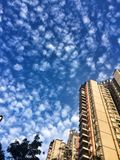 Chinese apartment buildings Royalty Free Stock Photography