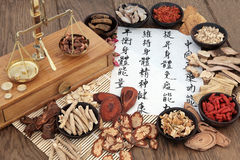 Chinese Apothecary Herbs Stock Photography