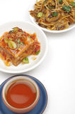 Chinese appetizer with tea Royalty Free Stock Images