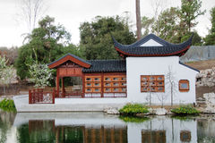 Chinese arbour gazebo and in the park Royalty Free Stock Images