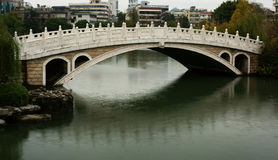 Chinese arch bridge. Was taken in guilin of china,the arch bridge in park Royalty Free Stock Photos