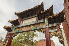 Free Chinese Arch In Manchester Stock Image - 124886211