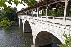 Chinese Arch stone bridge Royalty Free Stock Photo