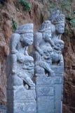 Chinese archaïsch Gebonden paardsteen royalty-vrije stock afbeelding