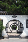 Chinese arched door Stock Image