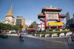 Chinese Archery Tower. Archery tower gate and pagoda. Bangkok, Thailand Royalty Free Stock Photo