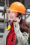 Chinese architect calling Stock Image