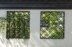 Chinese architectural style windows Royalty Free Stock Photo
