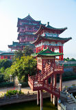 Chinese architecture. A classical Chinese architecture in the sunshine Royalty Free Stock Photos