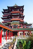 Chinese architecture. A classical Chinese architecture in the sunshine Royalty Free Stock Image
