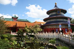 Chinese architecture. And koi pond Stock Images