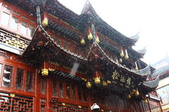 Chinese architecture covered in the snow Stock Image