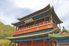 Chinese architecture in the Great Wall Royalty Free Stock Photo