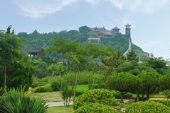 Free Chinese Architecture On Top Of Mountain Stock Images - 10308514
