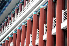 Chinese architecture. Red pillars, in China Stock Photo
