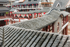 Chinese  architecture  --Roof tiles Stock Photography