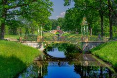 Chinese architecture in Russia. Park of Saint-Petersburg Royalty Free Stock Photos