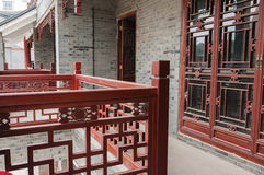 Chinese  architecture  --tiles  wall Royalty Free Stock Photos