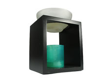 Chinese aroma lamp with candle Stock Photos