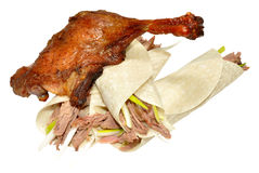 Chinese Aromatic Crispy Duck And Pancakes Royalty Free Stock Photography
