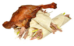 Chinese Aromatic Crispy Duck And Pancakes Royalty Free Stock Photo