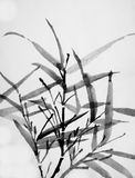 Chinese art: sumi bamboo Royalty Free Stock Photo