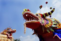 Chinese Art During Durga Festival Stock Photography
