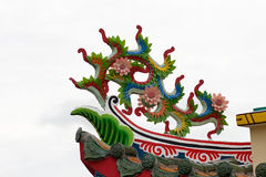 Chinese art flower decorative in temple Stock Images