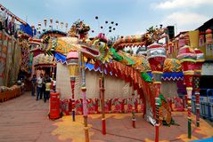 Chinese Art During Hindu Festival Stock Photography