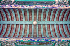 The Chinese art of Memorial Hall ceiling Royalty Free Stock Image