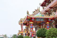 Chinese art shrine in Thailand. It is the worship of people in Chonburi, Thailand. 