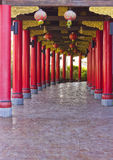 Chinese art sidewalk. Footpath to the beautiful Palace of China Stock Photography