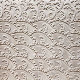 Chinese Art Style on Decorative Wall with Stucco Molding Stock Photography
