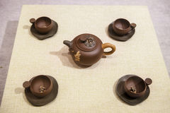 Chinese artistic clay teapots Royalty Free Stock Photos