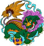 Chinese Artistic Pattern. Vector of Traditional Chinese Artistic Pattern Royalty Free Stock Photos
