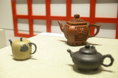 Chinese artistic teapots Stock Image