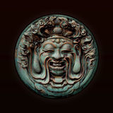 Chinese artwork. Chinese iron board relief, Mandarin Royalty Free Stock Photos