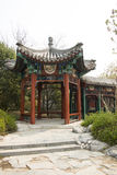 Chinese Asia, Beijing, the antique building, corridor, Pavilion Stock Photography